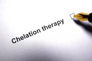 chelation therapy check box on paper